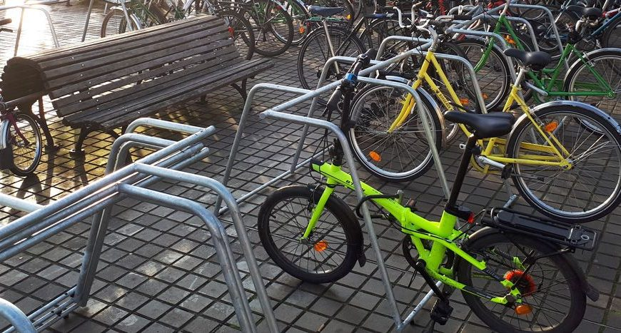 racks de stationnement vélos temporaire ALTAO Mobile utilisés lors du congres de la FUB à Bordeaux