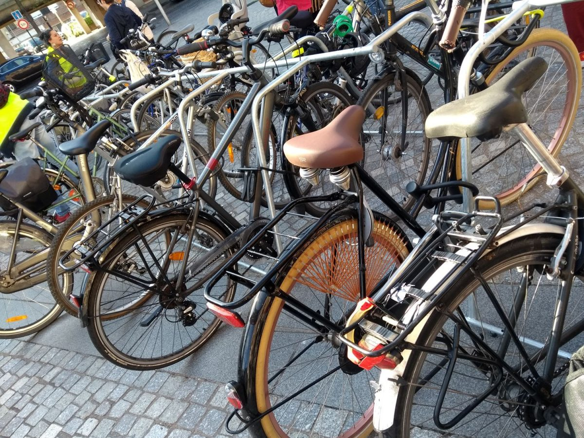 stationnement vélos temporaire à Dunkerque