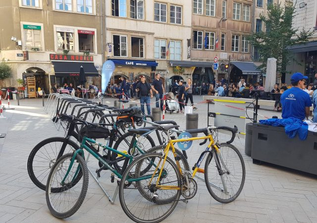 appuis vélos ALTAO Mobile pour stationner les vélos en ville