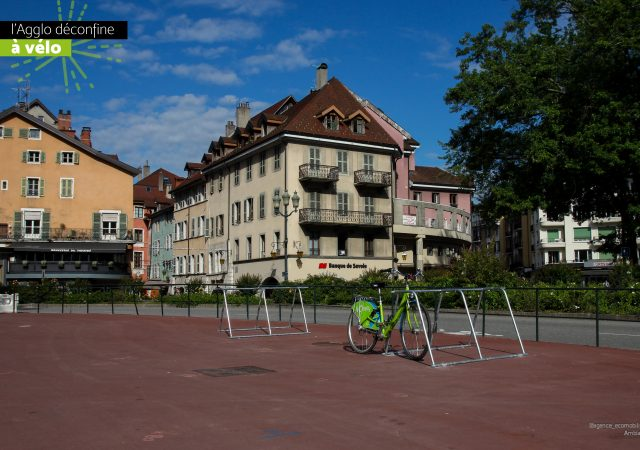 stationnement vélos pour déconfinement à Annecy