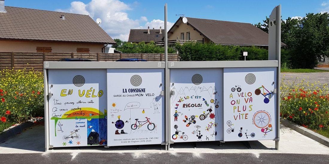 abri vélo sécurisé pour stationner son vélo vers Aix les Bains
