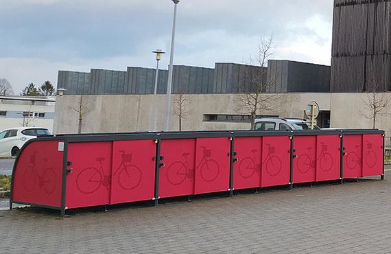 Box vélos solaires et innovants de l'UTBM à Montbéliard