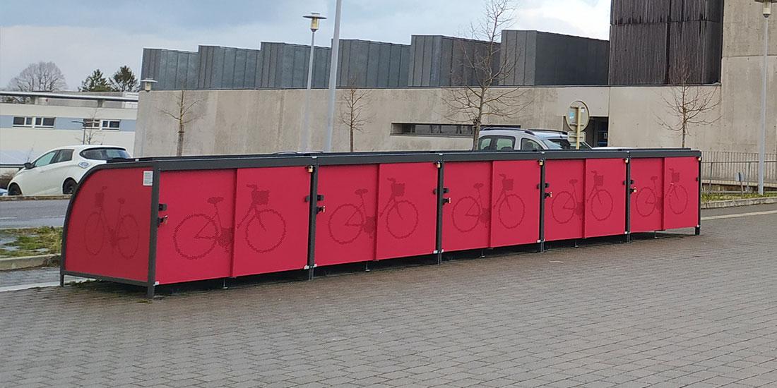 Abris vélos solaires et innovants de l'UTBM à Montbéliard