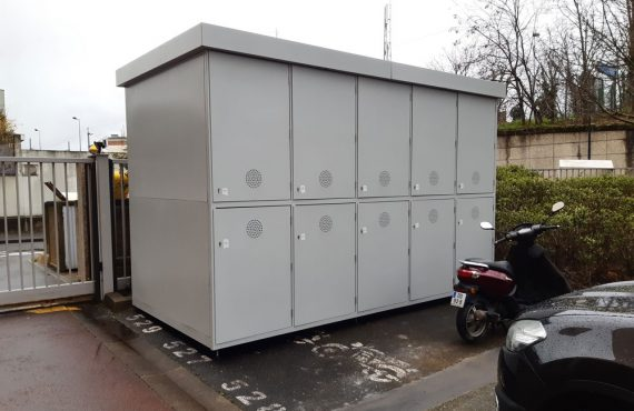 parking vélos résidentiel installé en Ile de France