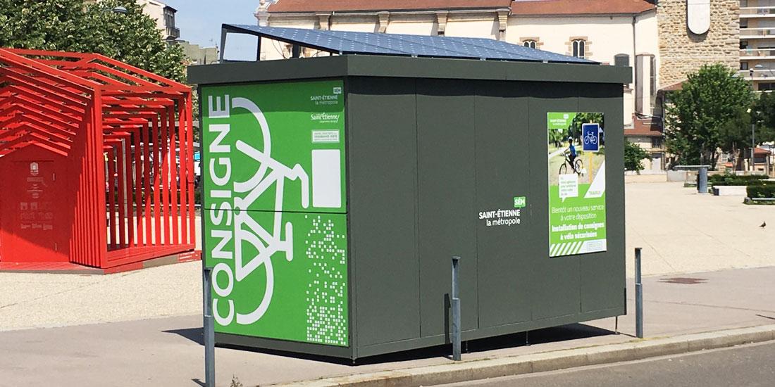 Consigne vélo solaire et innovante ALTAO Duplex
