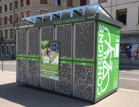 abris vélos solaires et innovants ALTAO Duplex de St Etienne