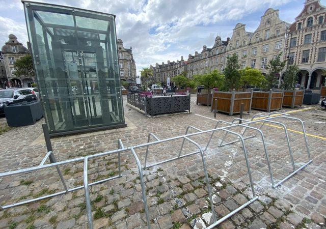 parking vélos temporaire avec arceaux ALTAO Mobile à Arras