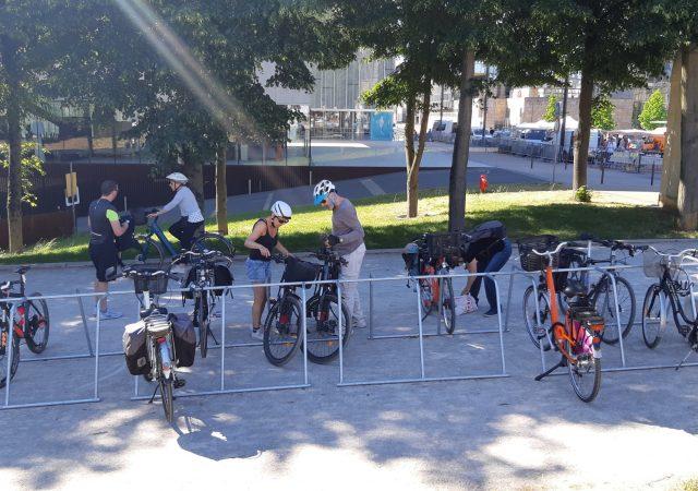 Nouveau stationnement vélos provisoire au Mans
