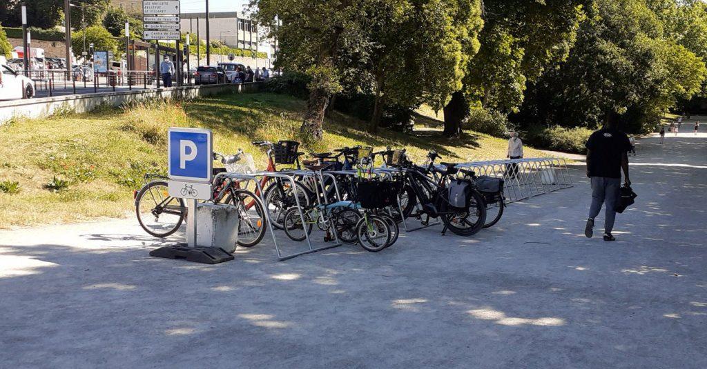 parking vélo temporaire au Mans