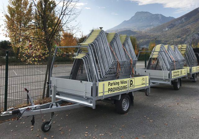 Racks de stationnement ALTAO Mobile empilés prêts à être installés - Grenoble