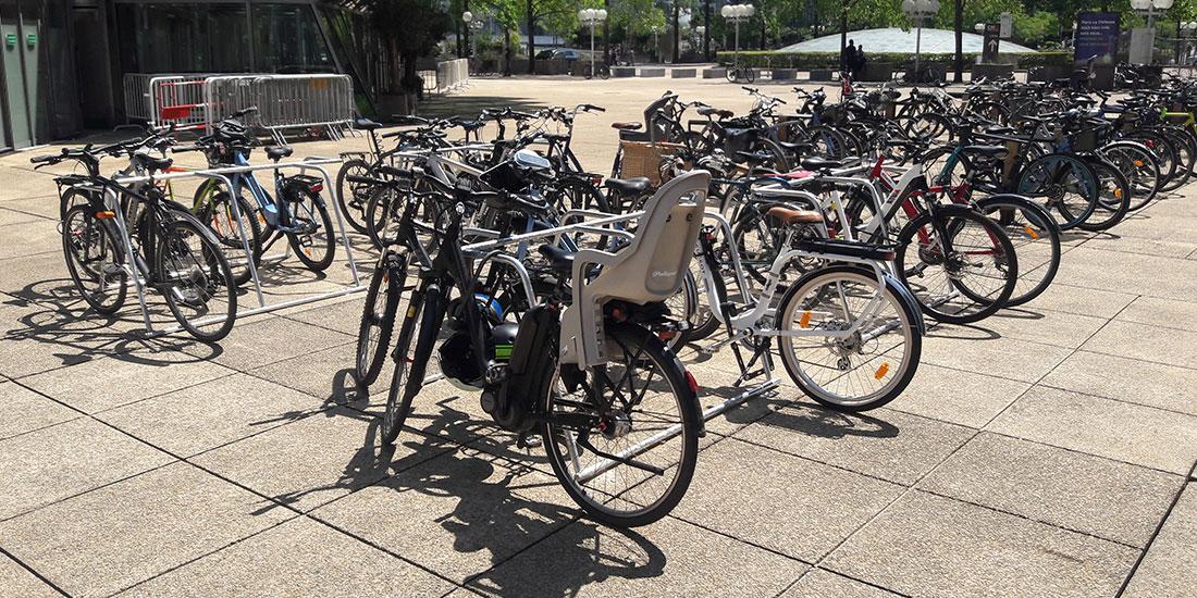 stationnement vélos provisoires en ville