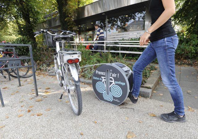 Station de gonflage vélo ALTAO Pump à Besançon