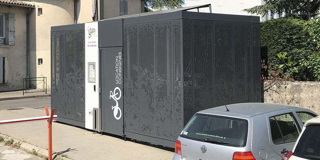 Consigne vélos solaire abri Cigogne à Valence