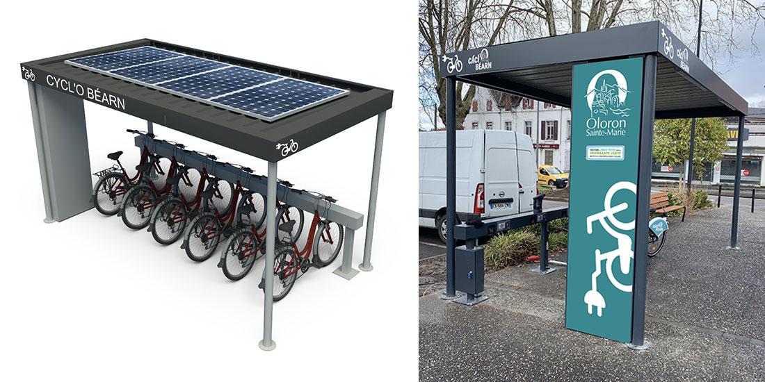 Nouveaux abris vélos solaires et innovants avec recharge pour vélos électriques
