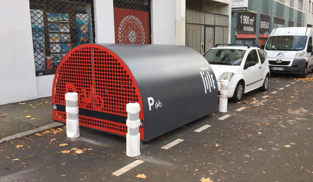 box vélo sécurisé ALTAO Cover installé Lille
