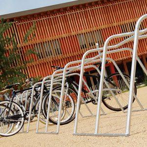 parking vélo temporaireavec racks de stationnement vélos ALTAO Mobile via le Coup de Pouce Vélo