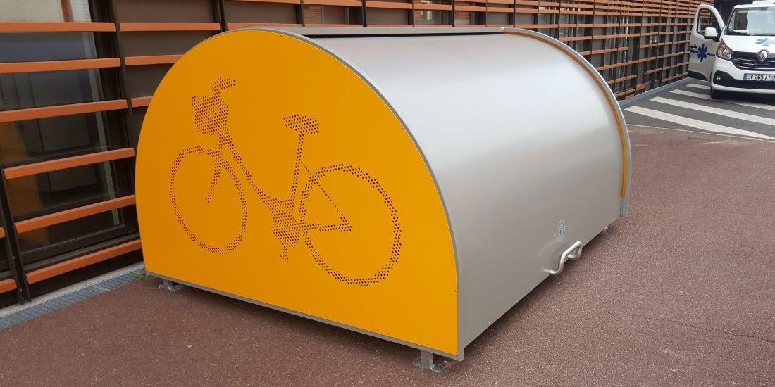 un des deux abris vélos pour l'hôpital de Créteil