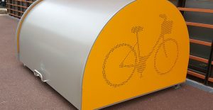 box vélo sécurisé dans un établissement hospitalier