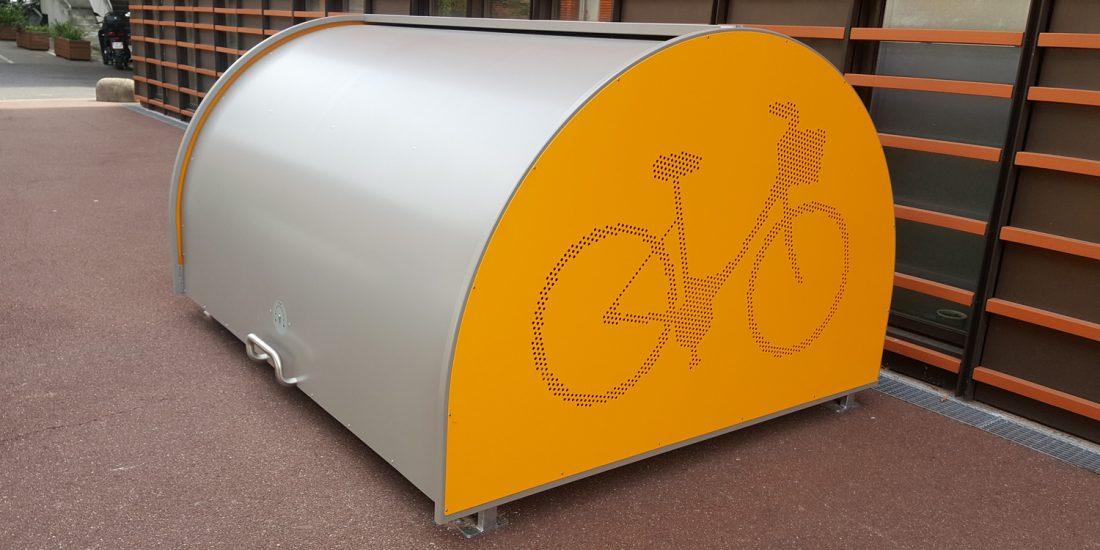 un des abris vélos pour l'hôpital de Créteil