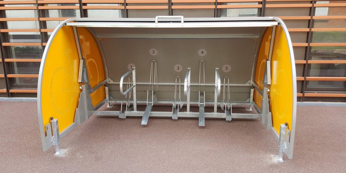 box vélo sécurisé d'un hopital ouvert