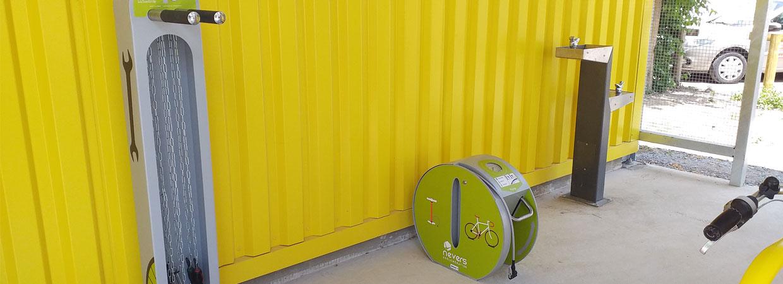 photo de la halte pour cyclotouristes à Nevers