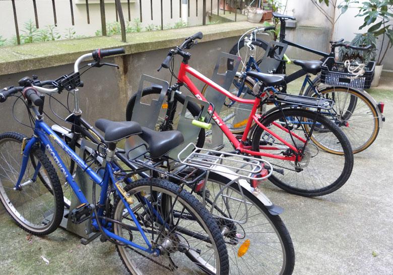 racks Altinnova vélo dans une coproprété parisienne