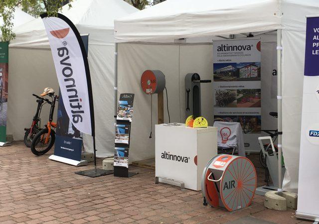 stand Altinnova sur l'événement BikeToWork