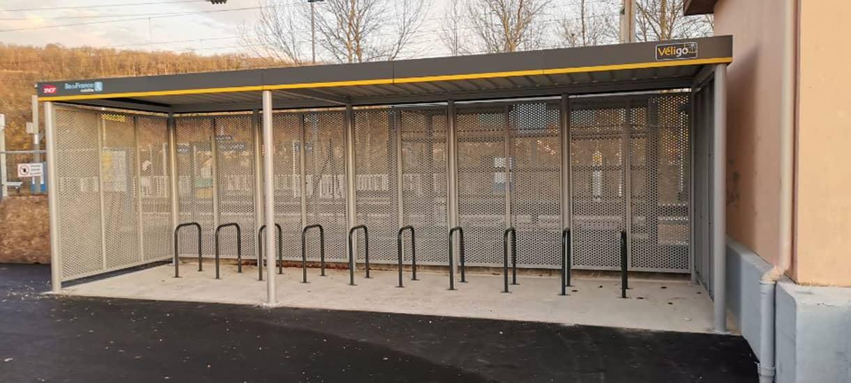 abri vélo Véligo en gare