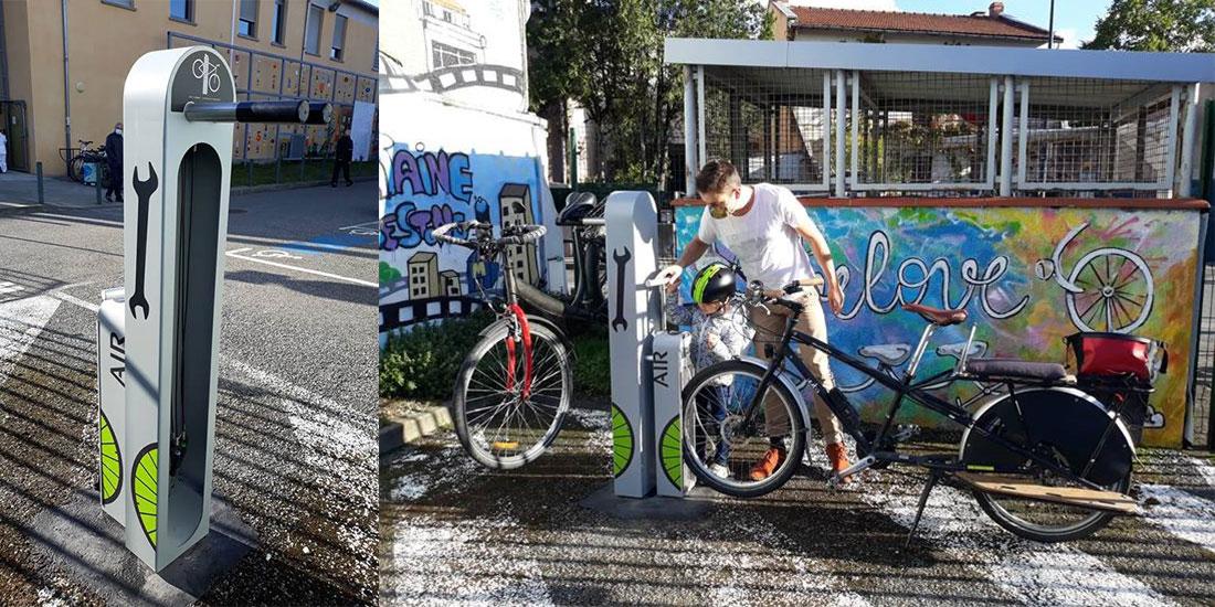 borne de réparation vélo