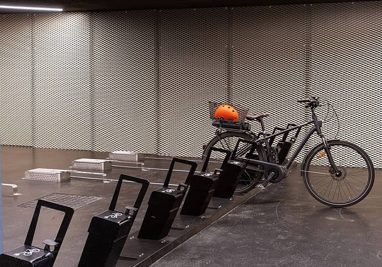 équipements de stationnement et recharge pour les vélos et cargos