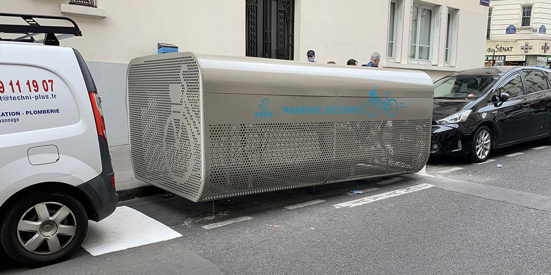 box vélo sécurisé parisien