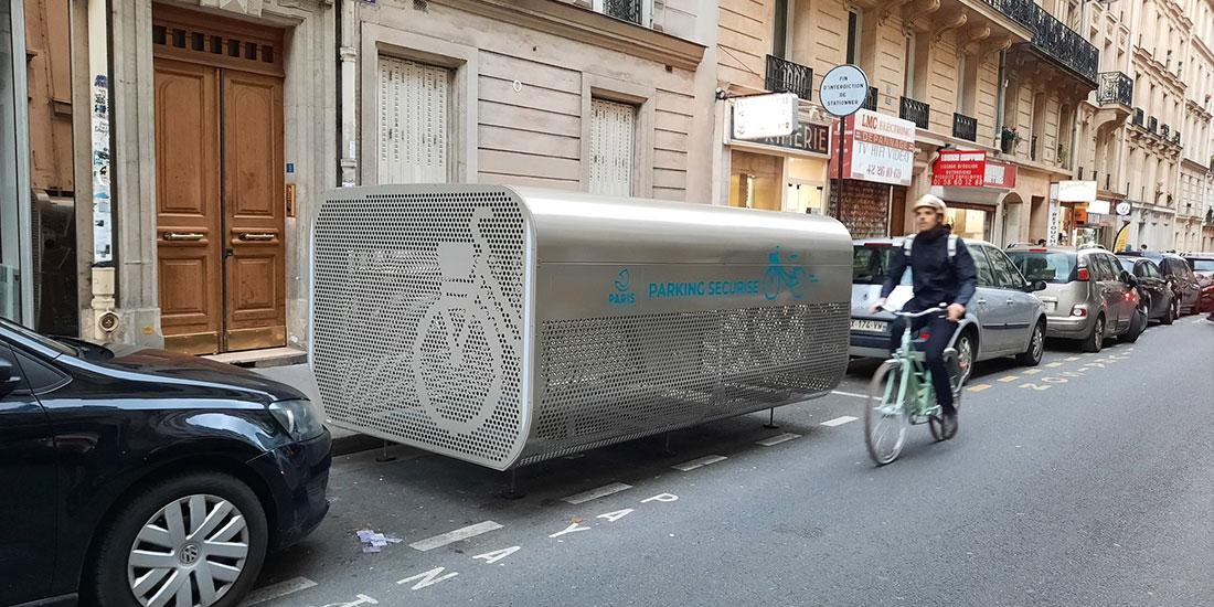 un nouvel abri vélos sécurisé Paris