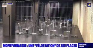 nouvelle vélostation de la gare Montparnasse