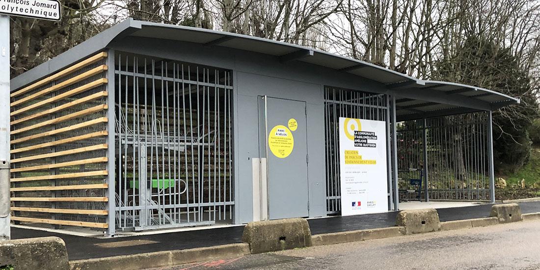 Stationnement vélos sécurisé et ouvert à Paris Saclay