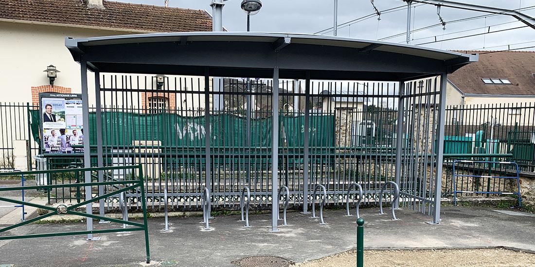 Un des parcs de stationnement vélos ouverts de Paris Saclay