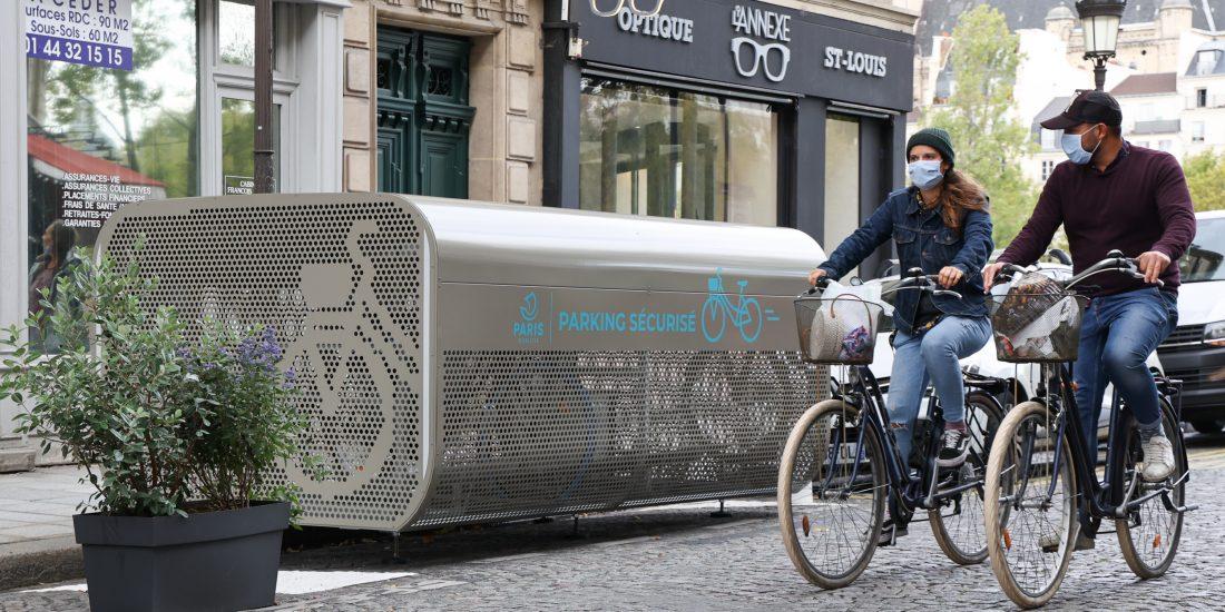 abri vélo sécurisé innovant de la ville de Paris