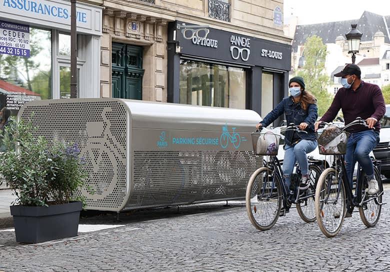 abri vélo sécurisé innovant de Paris