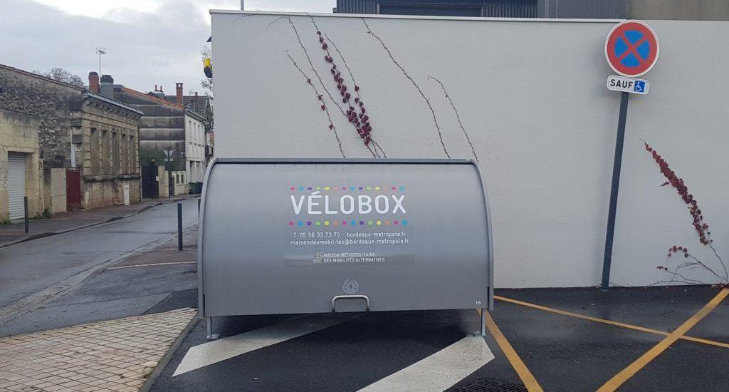 Box vélo installé à Talence