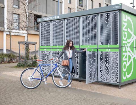 abri vélo sécurisé installé en ville