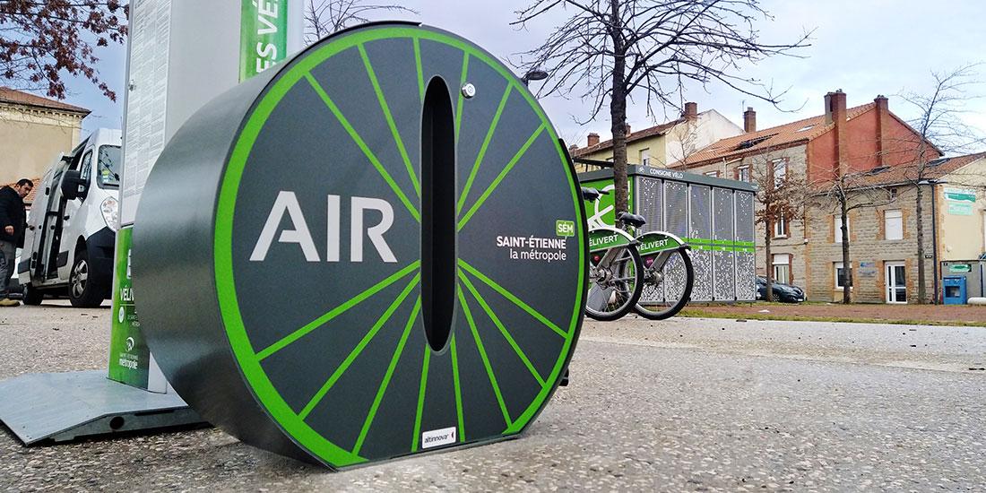 statiion de gonflage vélo de Saint-Etienne