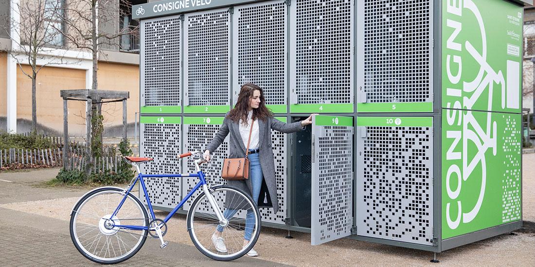 consignes vélos sécurités de Saint-Etienne