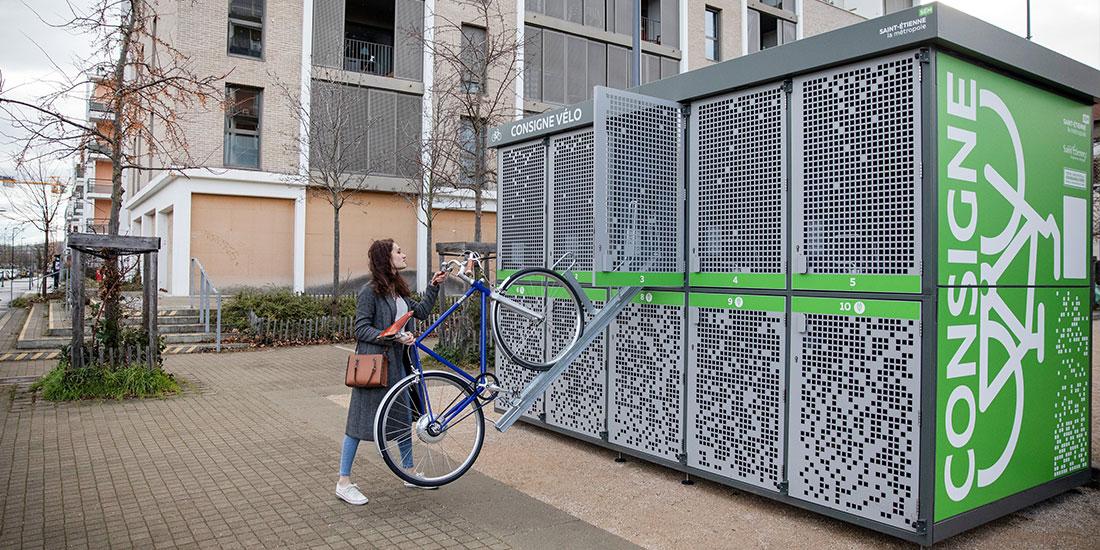 stationnement d'un vélo dans un box ALTAO Duplex