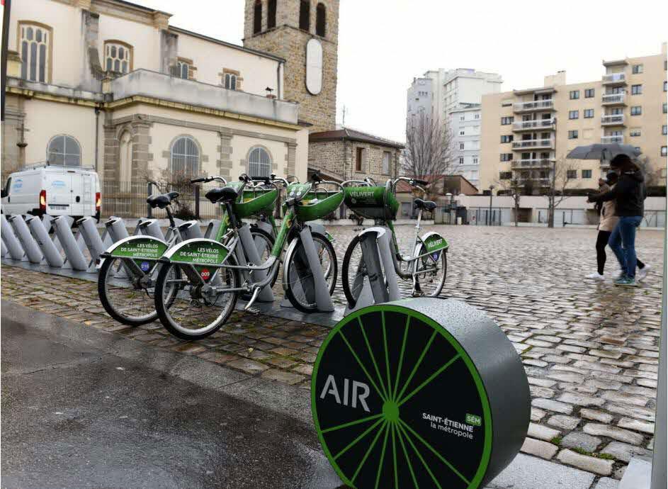 gonfleurs a velo gratuits et en libre service à St-Etienne