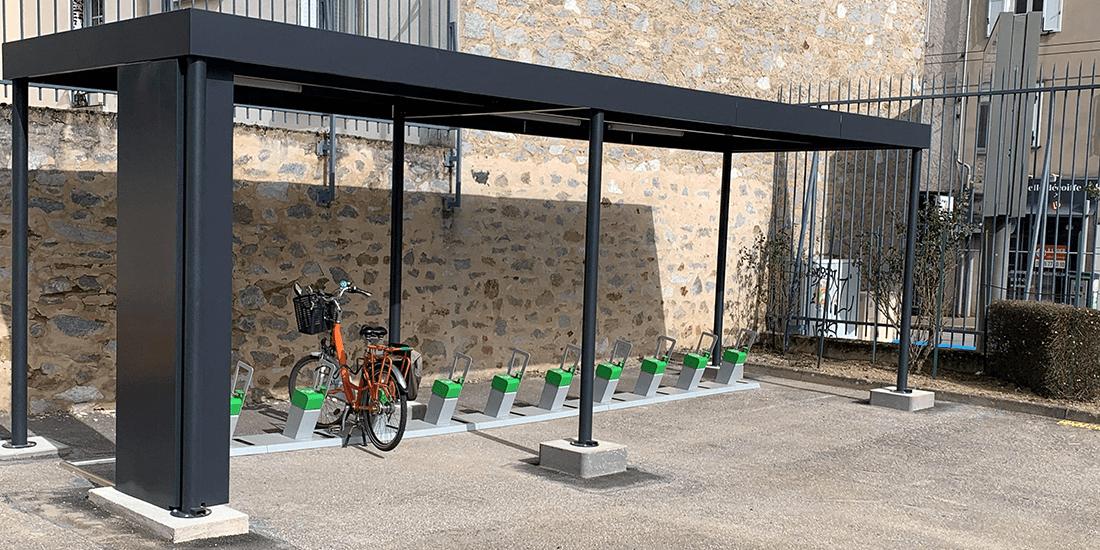 station-service solaire pour les vélos électriques