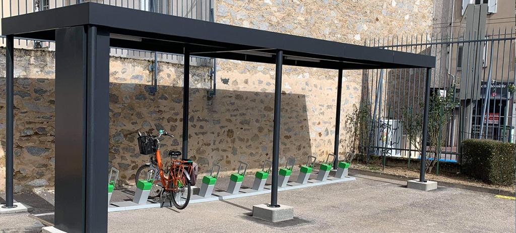 abri solaire ALTAO Open solaire pour le Développement de la mobilité électrique