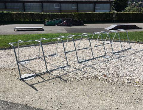 nouveau parking vélo proche du lac d'Annecy