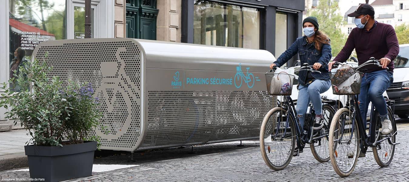 abri vélo sécurisé de la ville de Paris