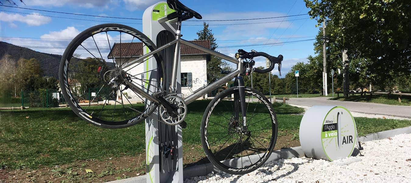station de services cyclistes d'Altinnova du Grand Annecy