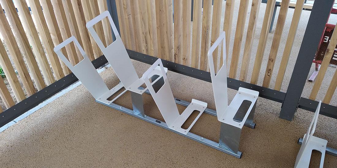 racks de stationnement vélos ALTAO Parco de la halte éco durable