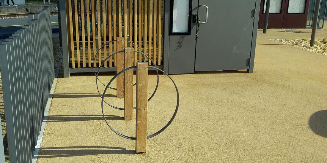 arceaux vélos sur-mesure de la halte éco durable SNCF